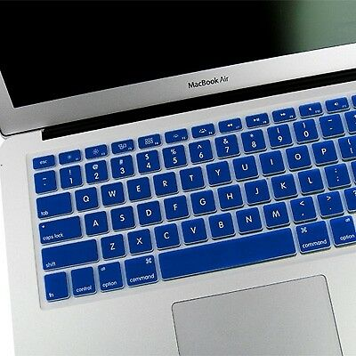TECNICO Blue ENKAY Soft Silicone Keyboard Protector Cover Skin for MacBook Air