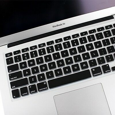 TECNICO Black ENKAY Soft Silicone Keyboard Protector Cover Skin for MacBook Air