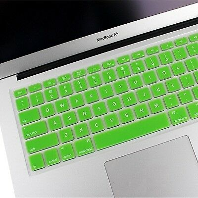 ELETTRONICA Green ENKAY Soft Silicone Keyboard Protector Cover Skin for MacBook