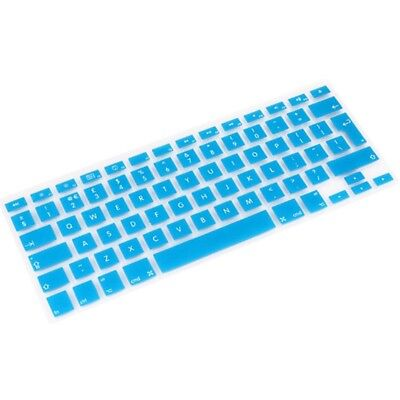 TECNICO Baby Blue 10 PCS Silicone Soft European-style English Keyboard Protecto