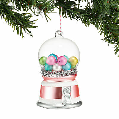 4048484 Old Fashion Gumball Machine Glass Ornament Retro Christmas Dept 56