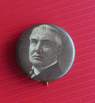 ORIGINAL Warren G. Harding Celluloid Picture Button Campaign PINBACK