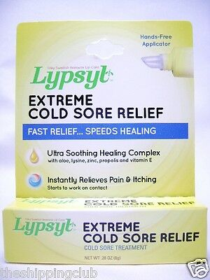 1- LYPSYL Extreme Cold Sore Treatment .28oz Beeswax Lip Pain Healing Itch Relief