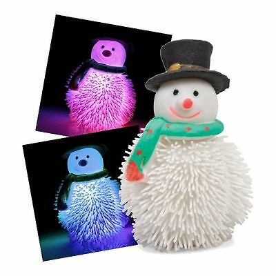 Flashing Squeezy Light-Up Snowman Toy Xmas Gift Secret Christmas Stocking Filler