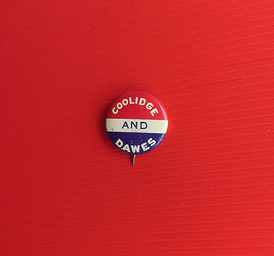 COOLIDGE and DAWES Political Vintage Pinback Button GREEN DUCK