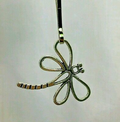 Dragonfly Tibetan Silver Zipper Pull Purse Charm Key Chain addition