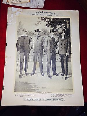 1900 1905 Men's Clothing Fashion Suite Trade Catalog Star Tailoring Co Chicago