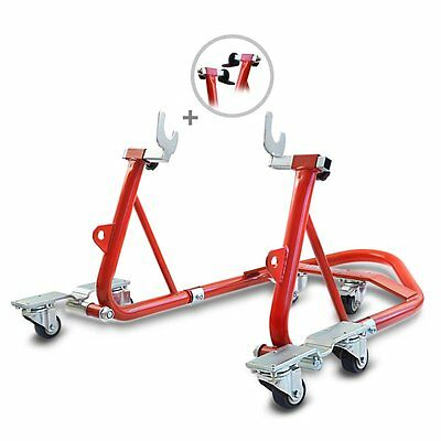 Rear Paddock Stand Dolly Triumph Thruxton ConStands Mover I Racing Red