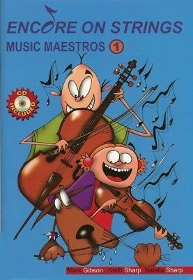 Encore On Strings Music Maestros Cello Book 1 *NEW* Inc Play-Along CD