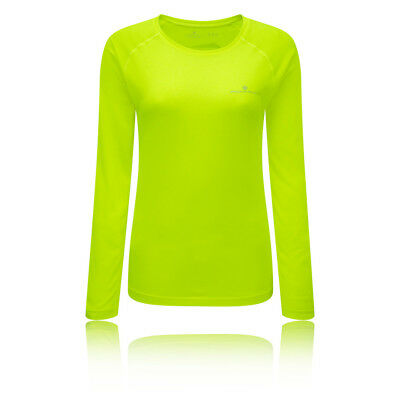 Ronhill Vizion Motion Womens Yellow Long Sleeve Crew Neck Running Sports Top