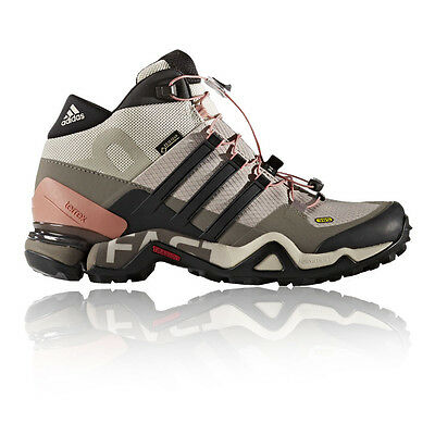 Adidas Terrex Fast R Mid Womens Grey Gore Tex Waterproof Walking Boots Shoes