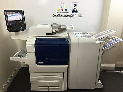 Xerox Color 550 Copier Printer Scanner Bustled Fiery & Finisher Low Meter 135k