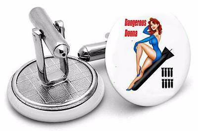 Nose Art /Aircraft /Tanks /Soldiers  Cufflinks Mens Cufflinks ,Birthday