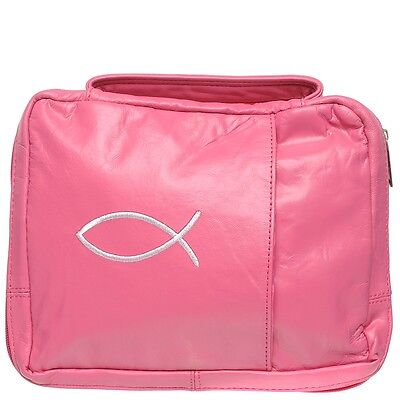 Hot Pink Leather Bible Case Holder