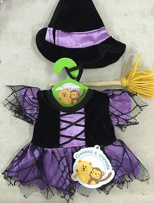 "PURPLE WITCH TEDDY OUTFIT CUDDLES HALLOWEEN FITS 16""/(40cm BUILD YOUR OWN BEARS"