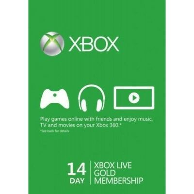 Microsoft XBOX Live Gold Card 14 Giorni Invio Rapido Global Key Digital Download