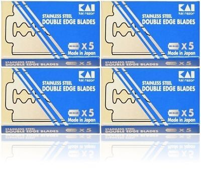 20 KAI STAINLESS STEEL double edge razor blades
