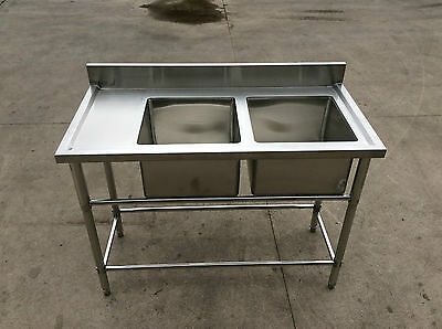 Brand New Double Bowl Sink 1200 x 600 x 900 + 100mm