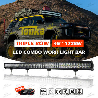 """CREE CURVED 720W 45"""" LED Combo Work Light Bar Offroad Driving Lamp FLOOD SPOT"""