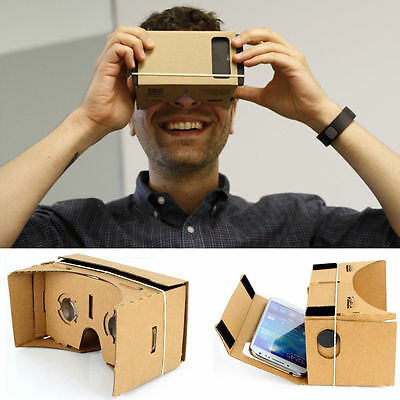 Funny 3D Virtual Reality VR Cardboard Headset Full NFC For Google Android IOS