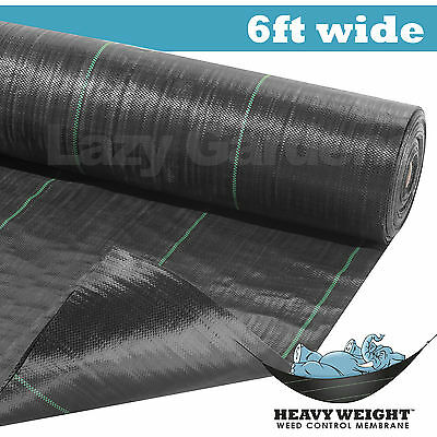 6ft weed control fabric garden landscape membrane ground cover barrier driveway