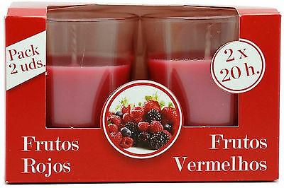 Pack of Two Ambientair Red Berries Scented Candles atmosphere senses emotion wax