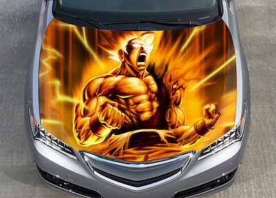 Goku Dragon Ball Z Car Bonnet Wrap Color Vinyl Sticker Decal Fit Any Car