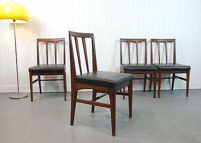 4 X Retro Afromosia Dining Chairs By Younger - Vintage, Danish Style