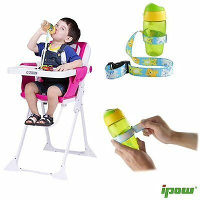 4Pcs No Drop Baby Bottle Sippy Cup Holder Strap Toy Saver For Stroller Car Seat