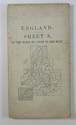 1913 old antique OS Ordnance Survey quarter-inch Second Series map 8 S W England