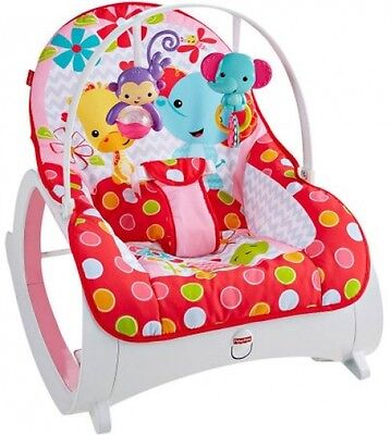 Fisher Price Infant-To-Toddler Rocker Portable Baby Seat Bouncer Sleeper Pad New