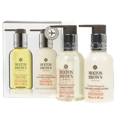 Molton Brown Orange & Bergamot Hand Wash & Enriching Lotion 100ml Travel Set