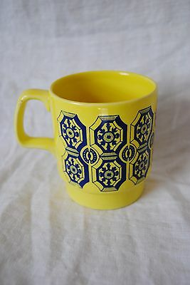 Vintage Royal Alma Ironstone Stackable Mug/Cup Yellow with Blue