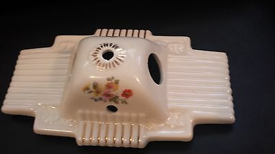 Old Vintage Antique His Her Porcelain Floral Flower Wall Sconce Light Fixture