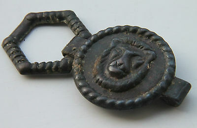 ROMAN Period Legionary Warrior Strap end / Buckle Depicting Lion 300-400 AD
