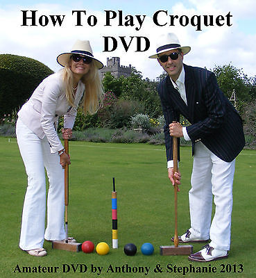 HOW TO PLAY CROQUET - for garden croquet (mallets balls peg hoops) vintage dvd