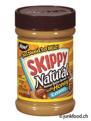 Skippy Natural Creamy Peanut Butter With Honey (425g) US-Import!