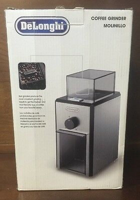 Delonghi Kg89 Stainless Steel Burr Coffee Grinder With Grind Selector & Quantity