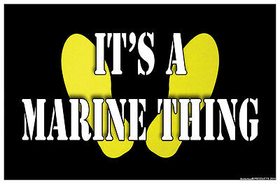 It's A Marine Thing Yellow Foot Prints - Two 11x17 Posters