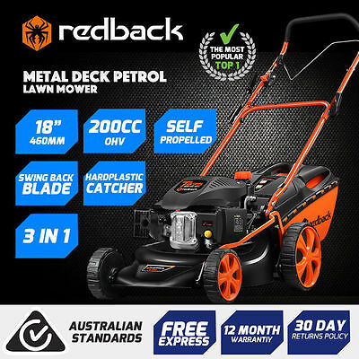 New Self Propelled 18In Lawn Mower 200cc (4Stroke) Was $469- Now$379