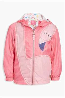 NEXT Pink Flamingo Jacket Shower Resistant BNWT 2-3 years light weight