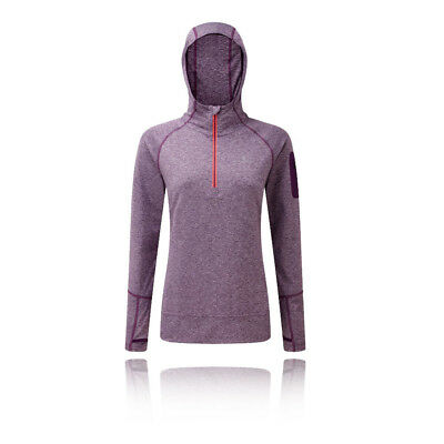 Ronhill Aspiration Victory Womens Purple Long Sleeve Running Hoodie Hooded Top