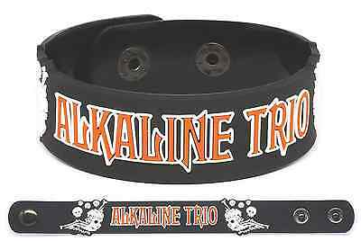 ALKALINE TRIO Rubber Bracelet Wristband My Shame Is True  This Addiction Agony