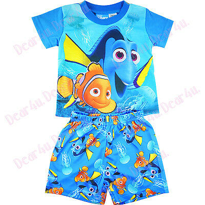 new Boys Finding DORY Fing NEMO2 summer pjs pyjamas kids clothing size 1-5 in AU