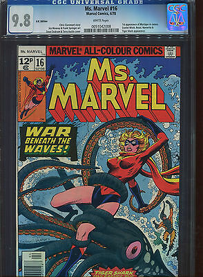 MS Marvel #16 CGC 9.8  U.S Published U.K Pence cover price Variant (1st print)