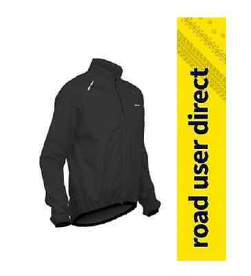 Lusso Giro Cycling Rain Jacket - Black - Large - Inc Tracked Courier