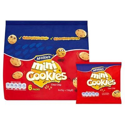 McVitie's Mini Chocolate Chip Cookies 6 x 25g