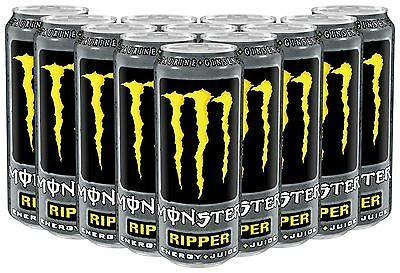 Monster Ripper Engery + Juice Drink 500ml Pack Of 12