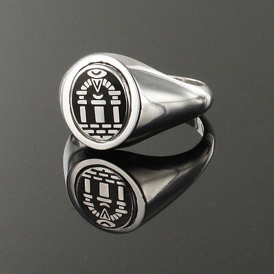 Solid Silver Hallmarked Royal Arch Reversible Swivel Head Masonic Ring