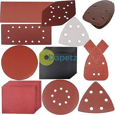 Sanding Sheets Discs Detail Mouse Sander Sandpaper Wet & Dry Black Decker Grit